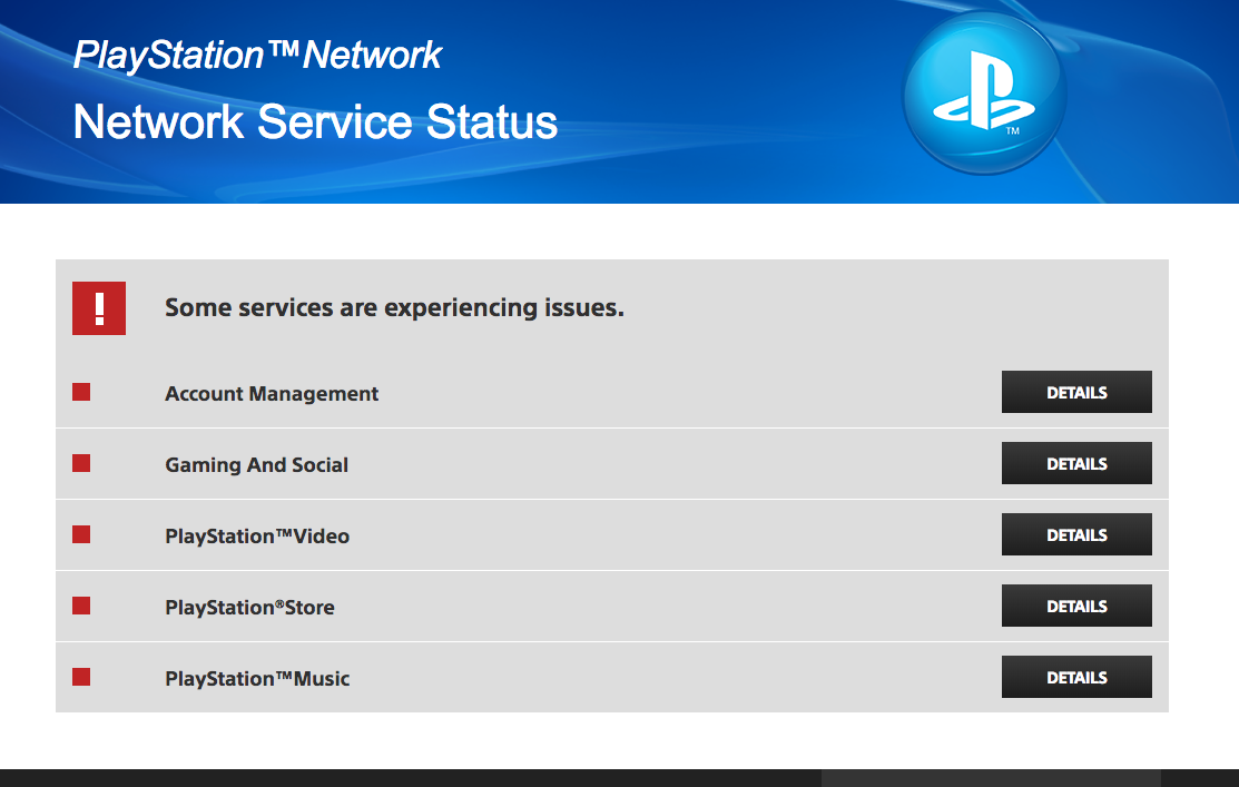 PSN Is Down Right Now At Least Partially