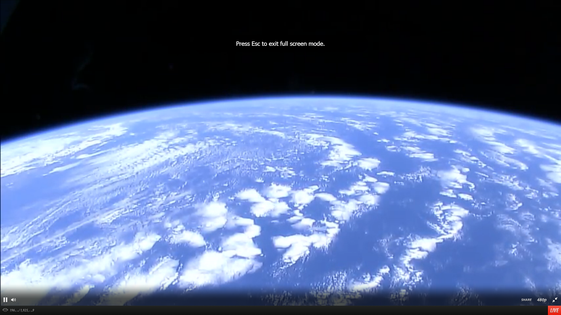 Live Streaming Video From Space!